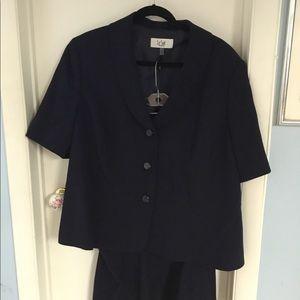 Women's navy plus suit
